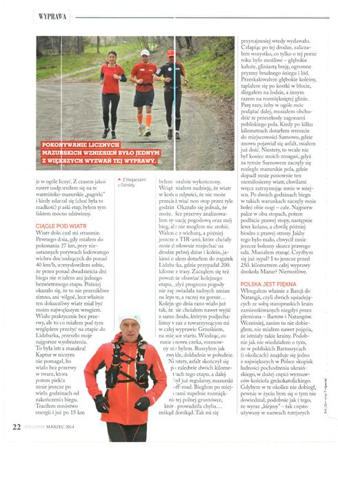 Z biegaczami z Ostródy